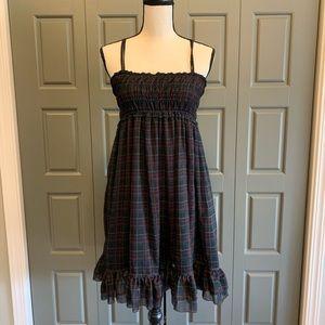 Ralph Lauren Smocked Plaid Ruffle Dress